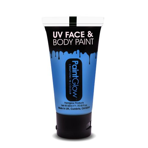 Intense Blue - Neon UV Face & Body Paint Large